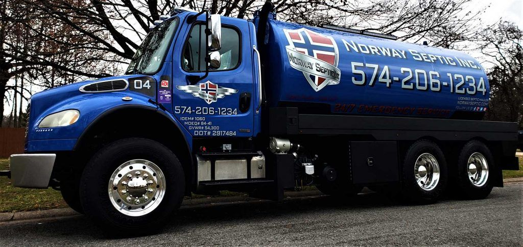 septic tank pumping company truck for Norway Septic granger indiana