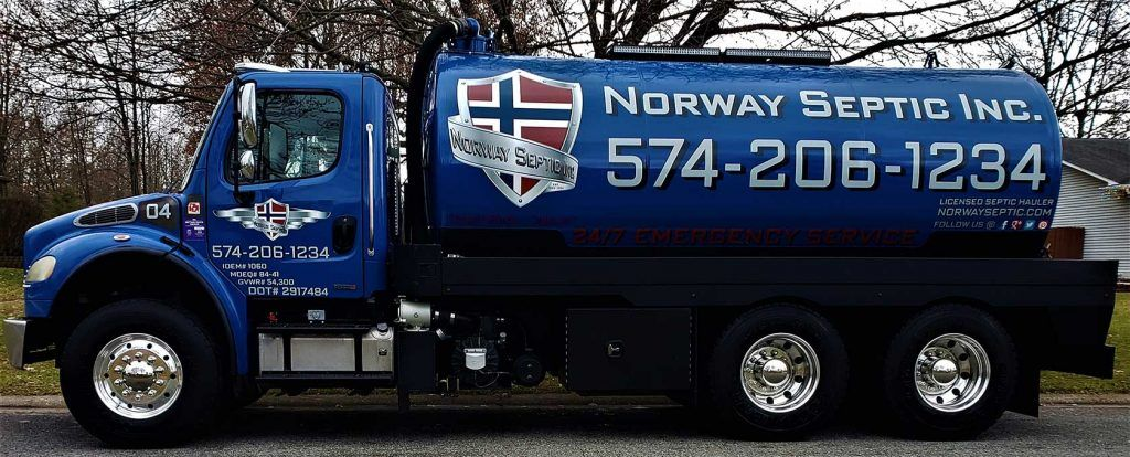 Norway Septic Inc. truck
